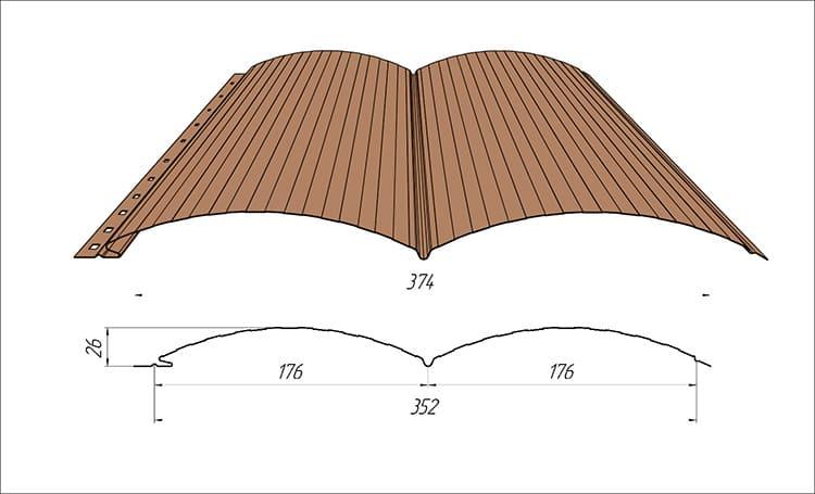 Размеры сайдинга «под дерево» зависят от модели