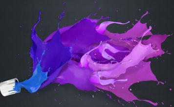 Шедевр под настроение или как получить фиолетовый цвет при смешивании разных видов красок