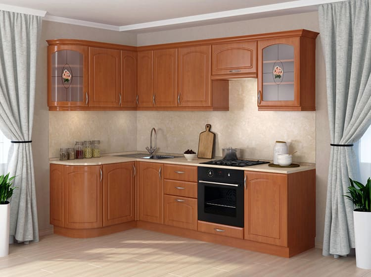 Кухонные гарнитуры отличаются по конструкции корпусов и фасадов