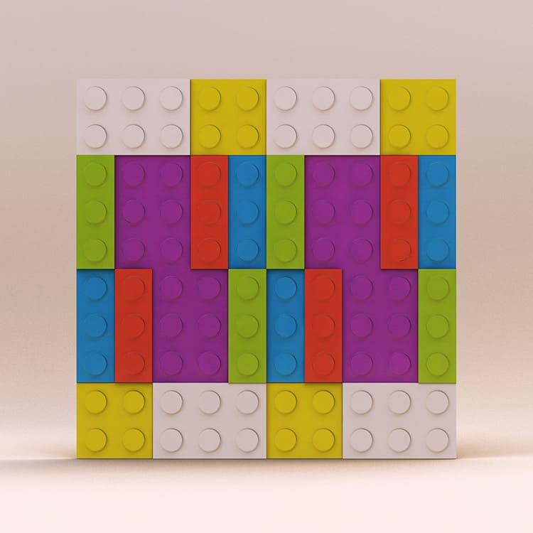 3D панели в виде Лего достаточно популярны