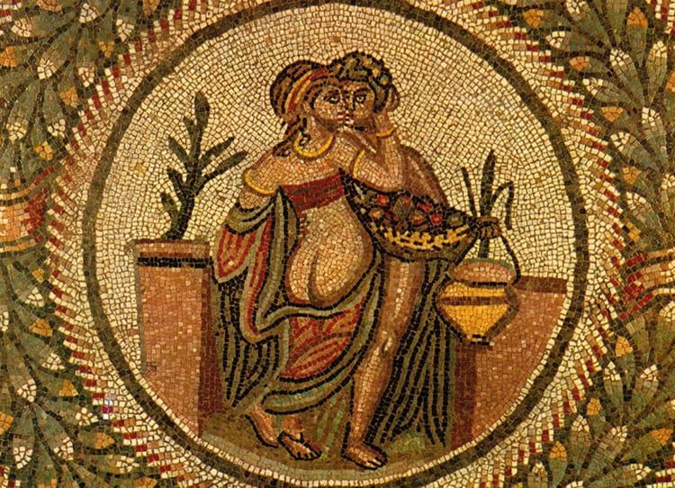 Древнейший памятник с применением подколки – мозаики в городе Моргантина, Сицилия (III век до н. э.)