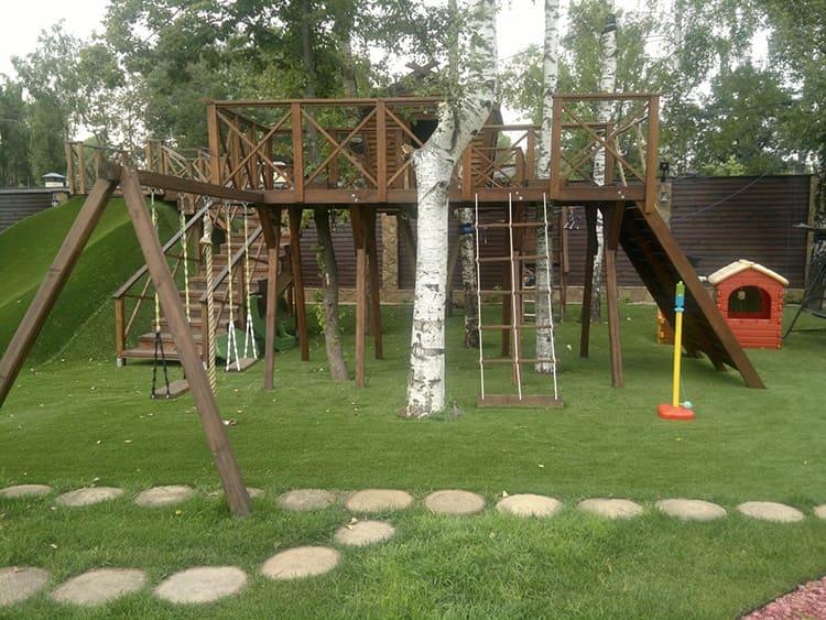 Досуговые сооружения предназначены для детской площадки или занятий спортом
