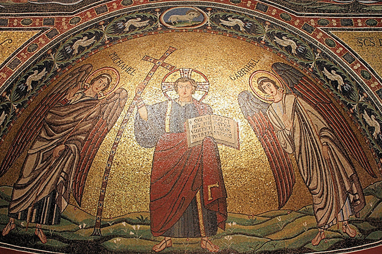 Мозаичная фреска в храме Святой Софии, Константинополь (Стамбул)