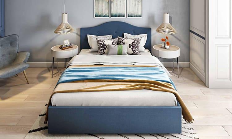 Данная модель кровати будет отлично смотреться в центре комнаты