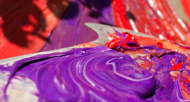 Шедевр под настроение - создаём фиолетовый цвет при смешивании красок