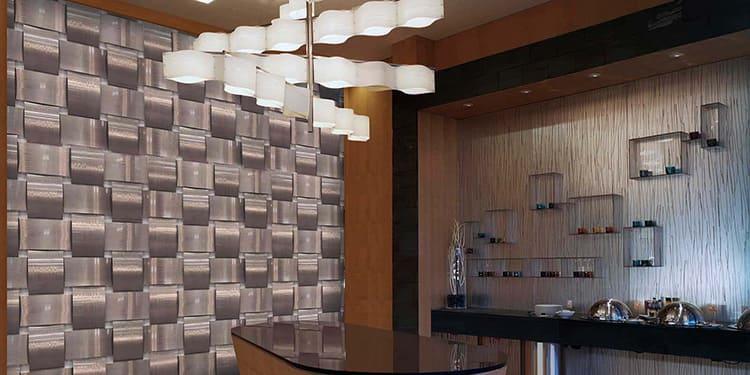 Алюминиевые панели – оптимальный вариант для современного интерьера