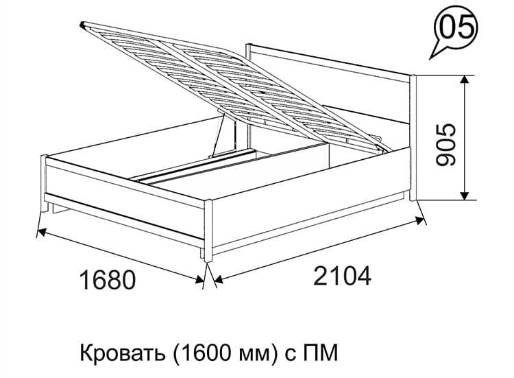 Ширина двуспальной кровати составляется из двух мест для каждого человека