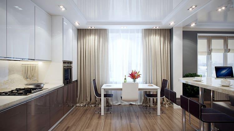 Если позволяет высота стен, то лучше устраивать многоуровневые потолочные конструкции
