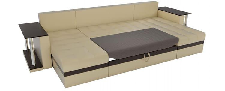 Удобные прикроватные тумбы на диване «Дельфин» часто используются как интересные аксессуары