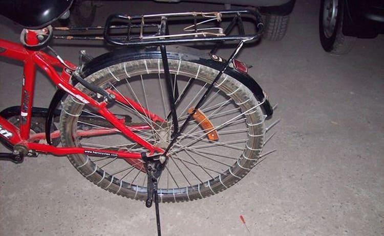 Такой велосипед неплохо пойдёт по снегу