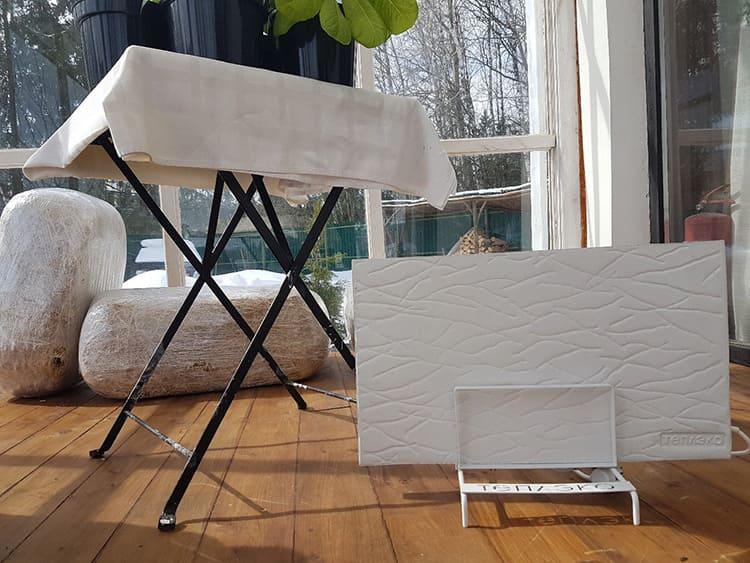 Если у вашей дачи стены не утеплены, то считайте, что одна плита может обогреть только 10 м³