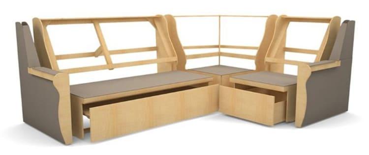 ФОТО. тверь-мебель.рф Каркас дивана чаще всего скрепляют с помощью металлических заклепок и листов ДВП.