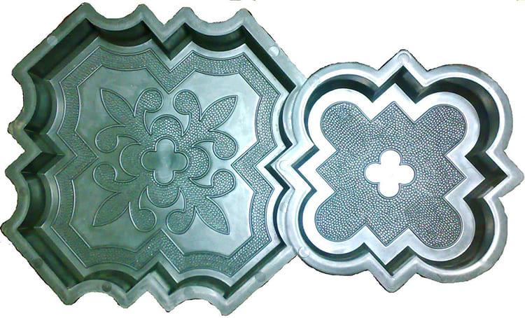 Форма для изготовления плитки может иметь разную конфигурацию ФОТО: plast-forma.ru