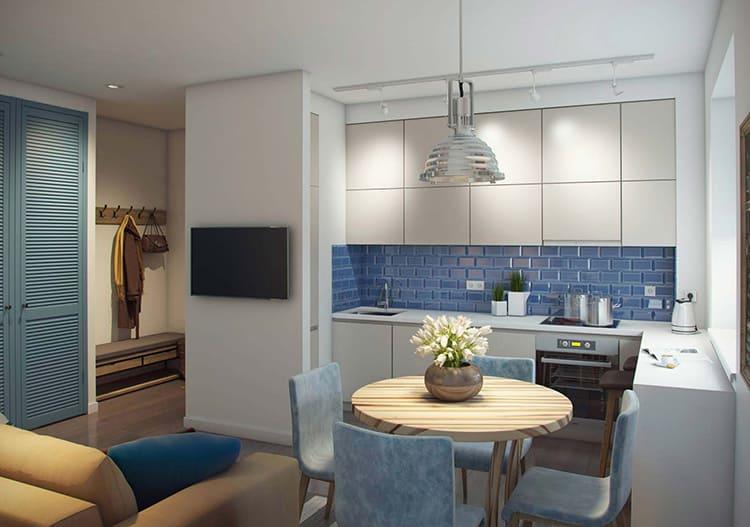 Двухкомнатная квартира даёт большие возможности для дизайнерской фантазии ФОТО: remontnichok.ru
