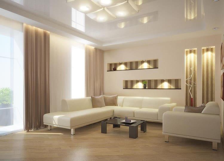 Оказывается, можно нехитрыми дизайнерскими приёмами визуально приподнять такие потолки и сделать комнаты просторнее, чем они есть на самом деле ФОТО: roomester.ru