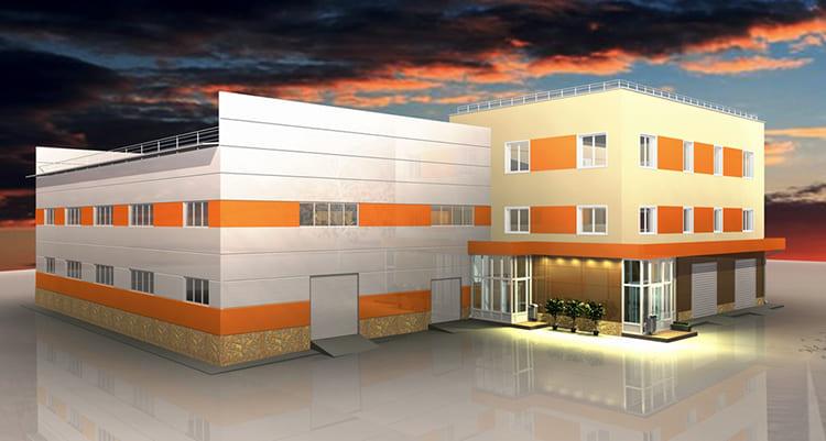 Проект производственного здания из тонкостенных листов ФОТО: img9.kvmeter.ru