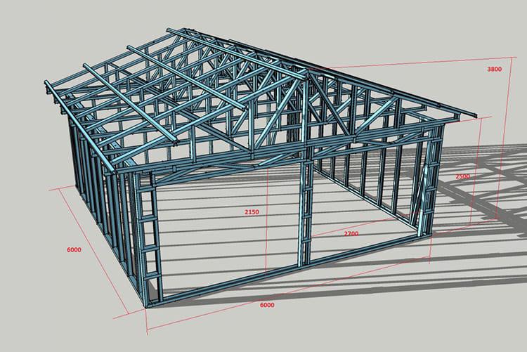 Проект павильона из каркаса с размерами ФОТО: zonaremonta-ufa.ru