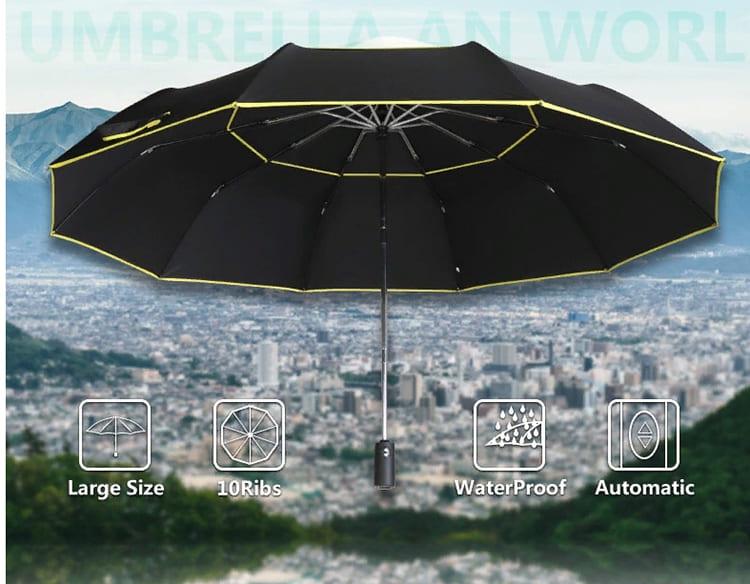 Зонт легко может вместить двух взрослых людей
