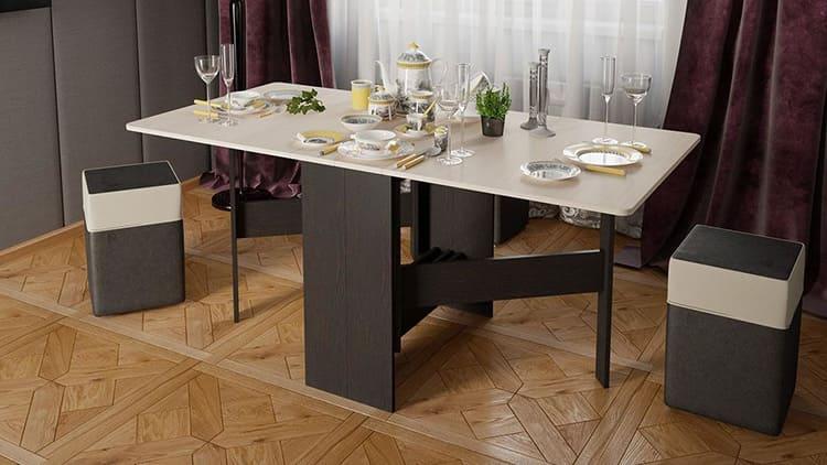 Обновлённый стол-книжка не испортит интерьер, зато сэкономит пространство