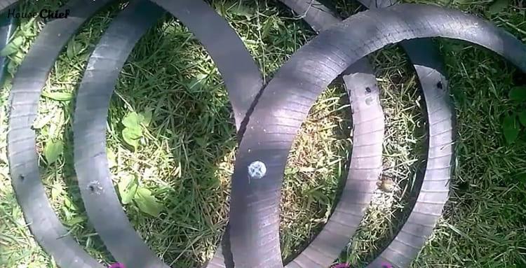 Скрепляем кольца болтами длиной 4 см