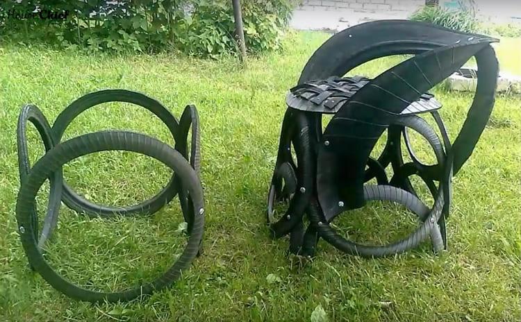 Вот готовое кресло и основание. Как видите, работа только начинается