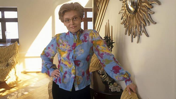 Елена Малышева в своем загородном доме