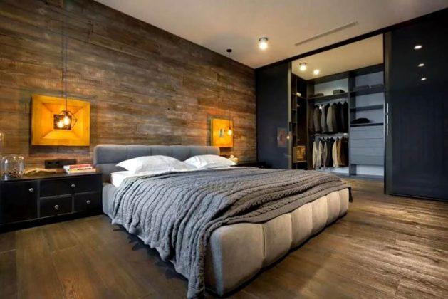 Спальня в стиле лофт: романтичный индустриализм