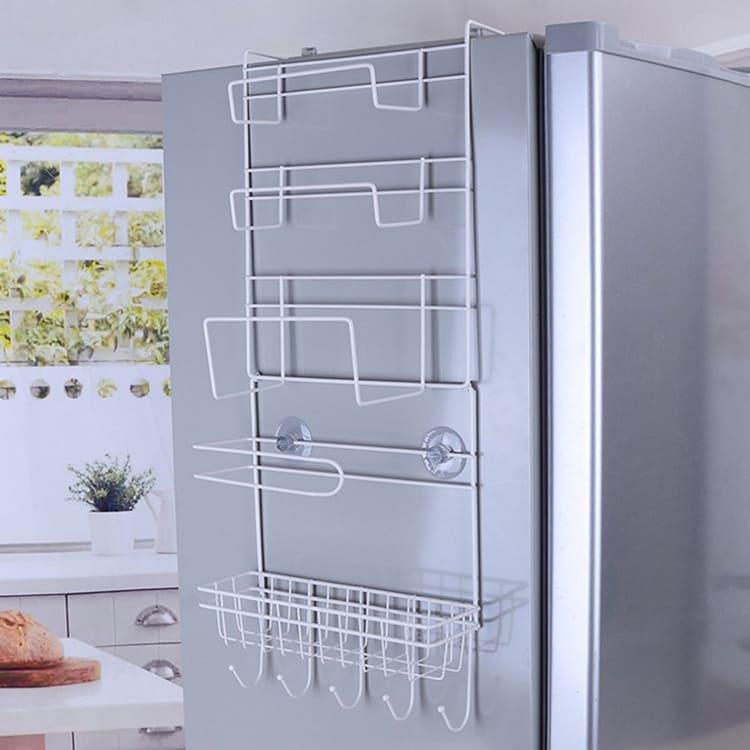 Для тех, кто планирует использовать устройство на боковой стене холодильника, стоит заранее учесть возможность открытия дверей навесных полок кухонного гарнитура ФОТО: ru.aliexpress.com