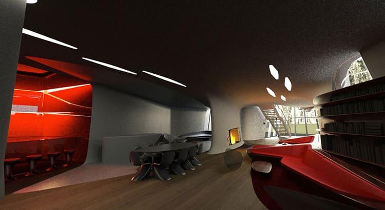 Резиденция, как мы уже упомянули, разделена на 2 блока: верхний и нижний. В нижнем расположены гостиная, зал для переговоров, кухонная зонаФОТО: skuky.net