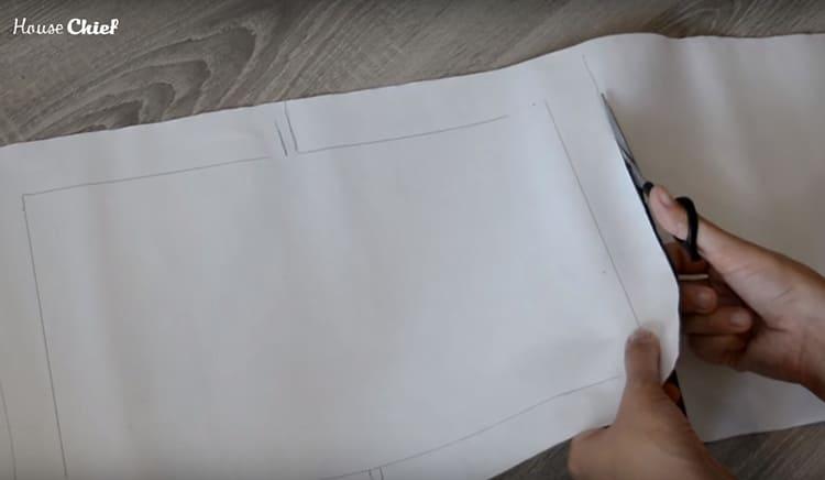 Вырезала этот кусок по намеченному контуру и приложила к разложенному дневнику
