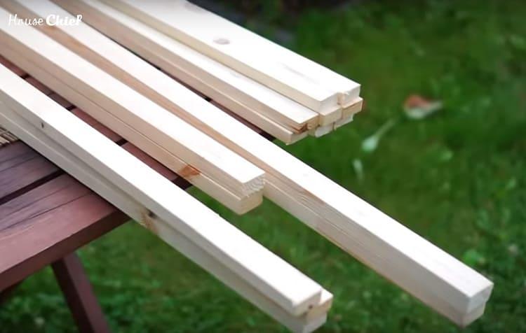 Изделия были двухметровой длины ровненькие, без сучков и других изъянов