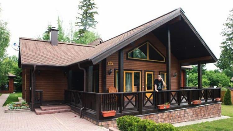 Деревянный одноэтажный дом-дача Бориса ГрачевскогоФОТО: remkasam.ru