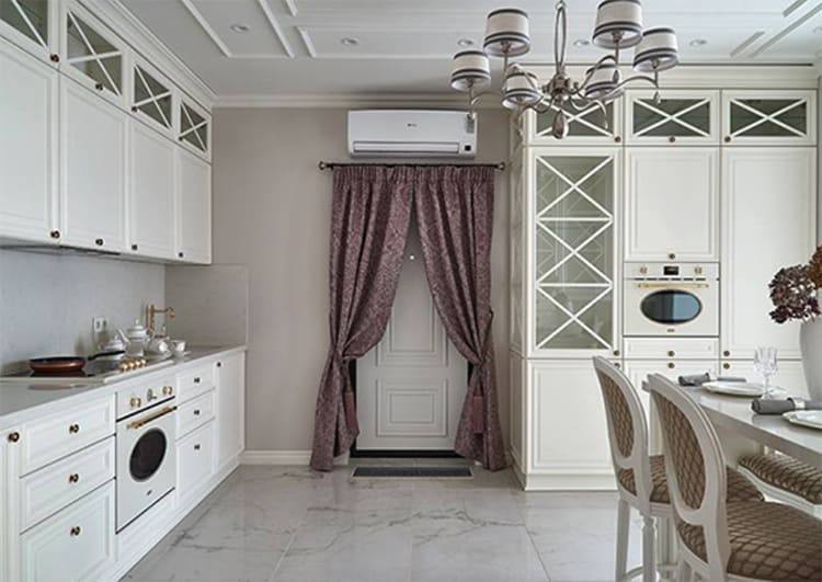 Кондиционер на кухне работает на обогрев, охлаждение и очистку воздухаФОТО: obaldela.ru