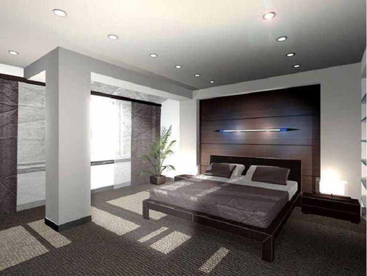 Просторная спальня Игоря Николаева оформлена максимально просто и функционально ФОТО: obaldela.ru