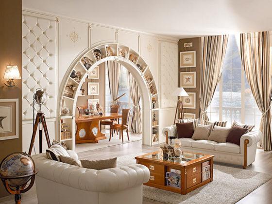 В оформлении гостиной ниши и арки могут выгодно подчеркнуть особенности дизайнаФОТО: intaer.ru