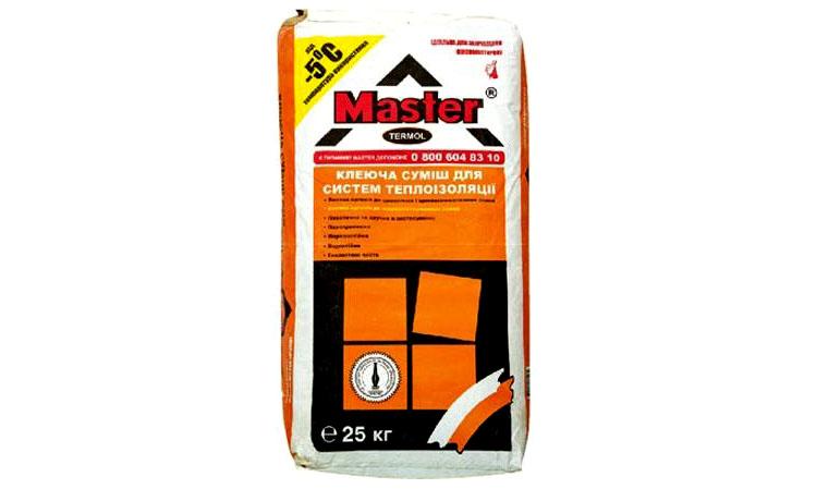 Во время работ по утеплению специалисты советуют совмещать клей Master-Термол и смесь Master-Супер