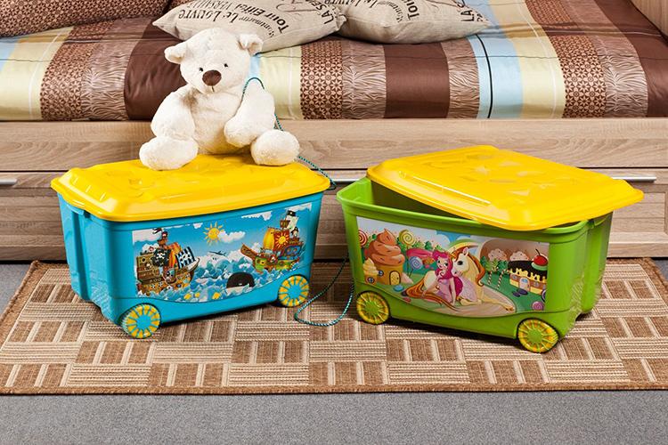 Мобильные пластиковые ящики для игрушекФОТО: ideal24.ru
