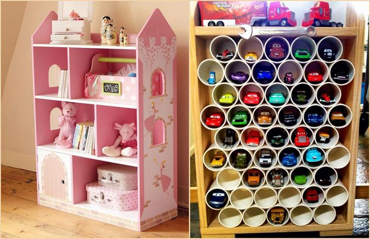 Дизайн детских стеллажей может быть самым разнообразнымФОТО: moypodval.ru