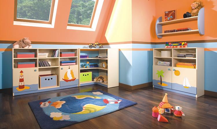 Система хранения должна соответствовать общей стилистике дизайна детской комнатыФОТО: howmeb.com