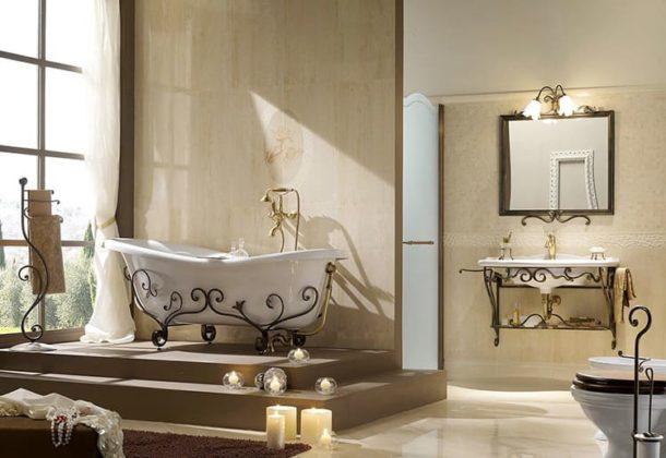 Если позволяет площадь, в ванной комнате можно разместить дополнительные элементы декораФОТО: italia-domus.it