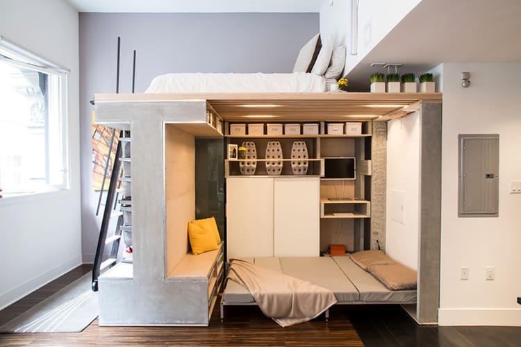 в однокомнатной квартире каждый свободный сантиметр на вес золотаФОТО:mtdata.ru