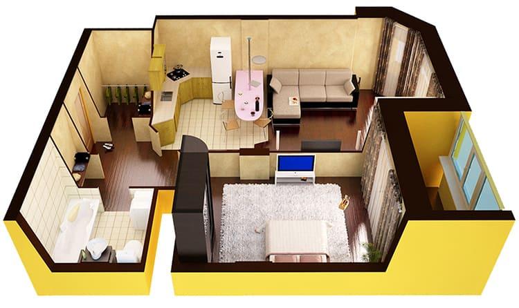 Многое зависит от планировки квартирыФОТО: sslp.ru