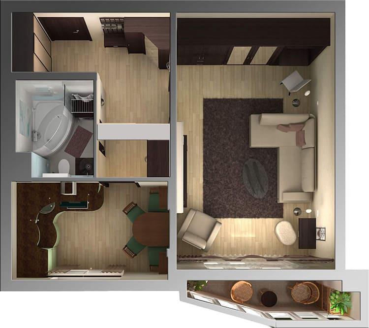 Даже с типовой планировкой квартиру можно сделать уютной и комфортнойФОТО: limeproekt.ru