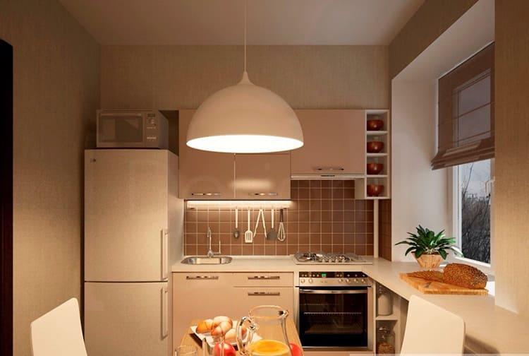 Ровная светлая поверхность потолка — идеальный вариант для маленькой кухниФОТО: avatars.mds.yandex.net