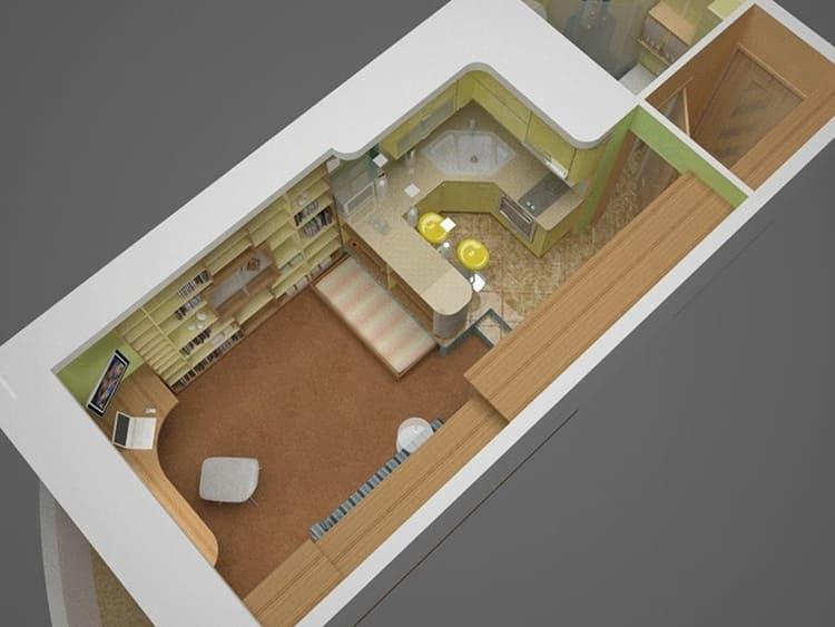 Квартира прямоугольной конфигурацииФОТО: avatars.mds.yandex.net