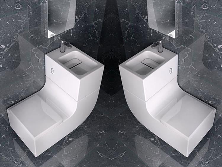 Унитаз, совмещённый с раковиной – довольно интересное решение в стиле хай-текФОТО: ceramicart.co.il