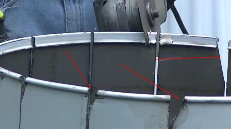 Надрезаем углы, чтобы груша получилась аккуратной