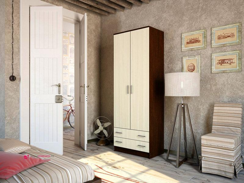 Корпус шкафа «венге» с фасадами «сосна лоредо»