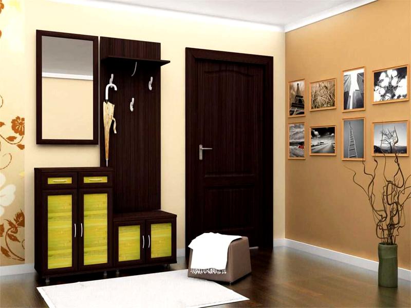 Двери цвета «венге» в интерьере прихожей