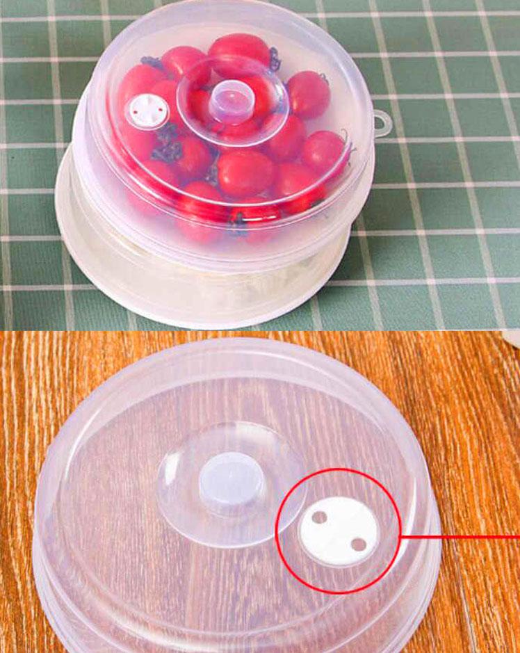 Крышка имеет специальное вентиляционное отверстие, позволяющее выпускать излишний пар